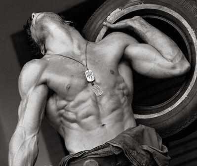 Herb Ritts, 'Fred with Tires I, Hollywood'