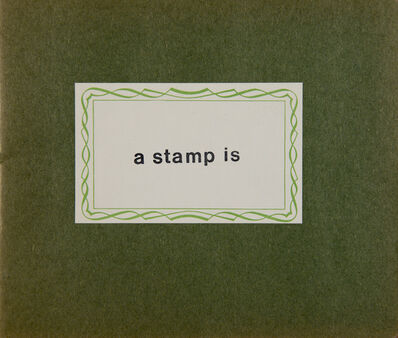 Cláudio Goulart, 'A stamp is', 1981