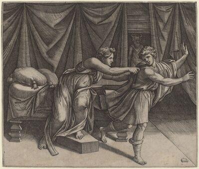 Marcantonio Raimondi after Raphael, 'Joseph and Potiphar's Wife'