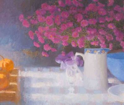 Nicholas Verrall, 'Still Life with Purple Flowers', 2018
