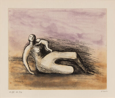 Henry Moore, 'Mother and Child VII', 1983