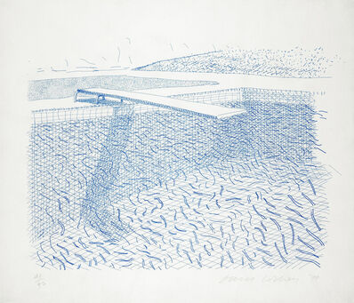 David Hockney, 'Lithograph of Water Made of Lines', 1978-1980