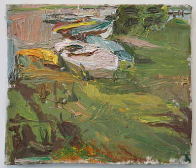 Stanley Lewis, 'Late Eve Close Up of Boats and Grass'