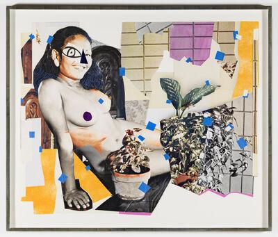 Mickalene Thomas, 'Jet Blue #4', 2018