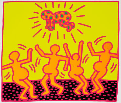 """Keith Haring, 'Untitled, 1983 (""""Fertility #4"""")', 1983"""