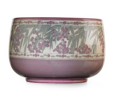 Lorinda Epply, 'Rare large Jewel Porcelain center bowl with fruiting branches (uncrazed), Cincinnati, OH', 1921