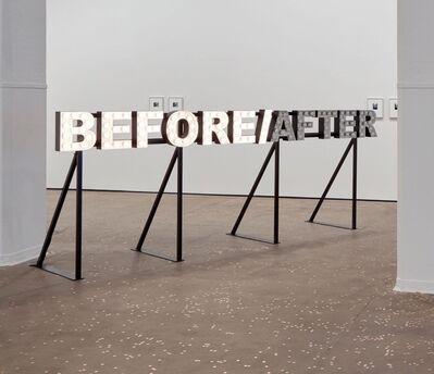Peter Liversidge, 'BEFORE/AFTER', 2012