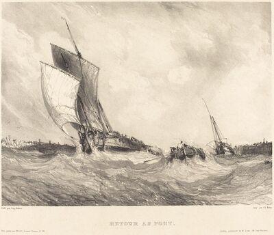 Eugène Isabey, 'Retour au port', 1833