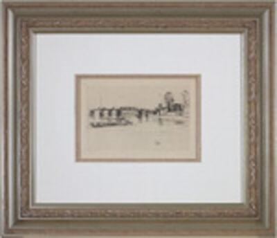 James Abbott McNeill Whistler, 'Fulham a.k.a. Chelsea, (Kennedy 182)', 1879