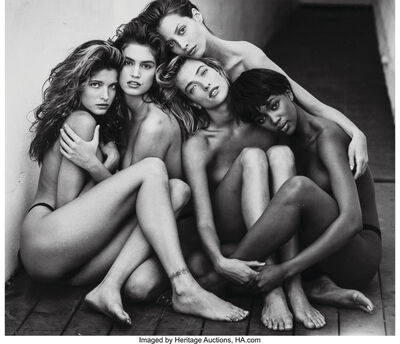 Herb Ritts, 'Stephanie, Cindy, Christy, Tatjana, Naomi, Hollywood', 1989