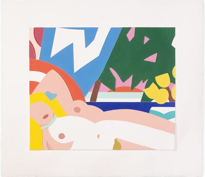 Tom Wesselmann, 'Sunset Nude with Yellow Tulips', 2004-2006