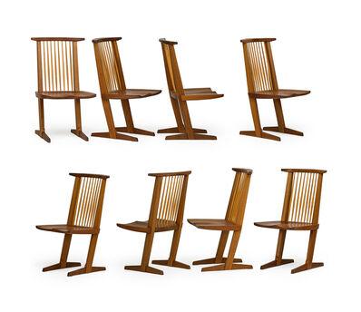 Mira Nakashima, 'Set of eight Conoid chairs with single slab seats, New Hope, PA', 2000