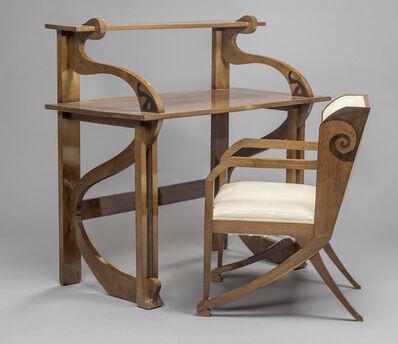 Federico Tesio, 'Bureau et fauteuil (Desk and chair)', 1898