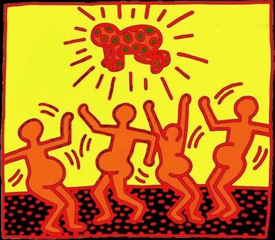 Keith Haring, 'Fertility Plate 1', 1983