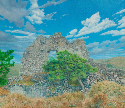 George Tzannes, 'Ancient Ruins at Paliochora With Tree', 1982