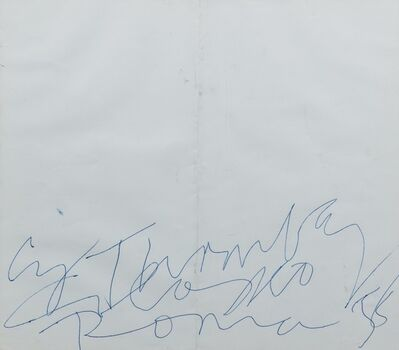 Cy Twombly, 'Cy Twombly Colosseo Roma 58', 1958