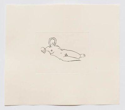 Tom Wesselmann, 'Monica Reclining (Black)', 1986-1990