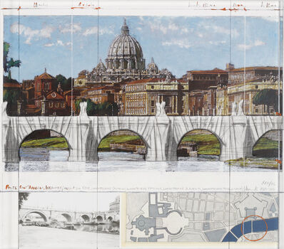 Christo, 'Ponte Sant'Angelo, Wrapped (Project for Rome)', 2011