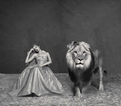 Tyler Shields, 'The Lady and The Lion', ca. 2019