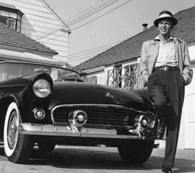Frank Worth, 'Frank Sinatra next to his T-Bird', Unknown