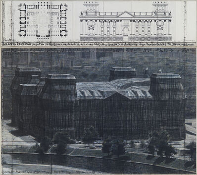 Christo and Jeanne-Claude, 'Wrapped Reichstag (Project for Berlin), 2 pieces', 1992