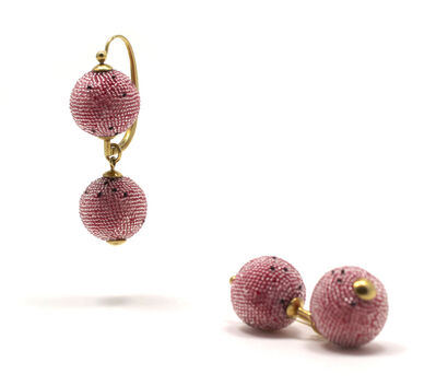 Jacqueline Lillie, 'Double Ball Earrings (french hook)', 2016