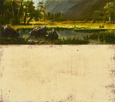 Tim Merrett, 'Lovers in a Dangerous Time (from Bierstadt-19th. C.)', 2017