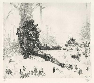 Philippe Mohlitz, 'Héros attaqué par 36 personnages', 1972