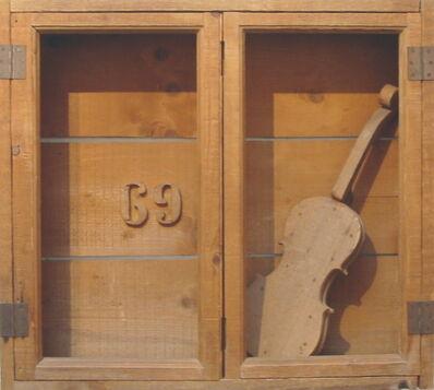 Mario Ceroli, 'Stipo con violino', 1969