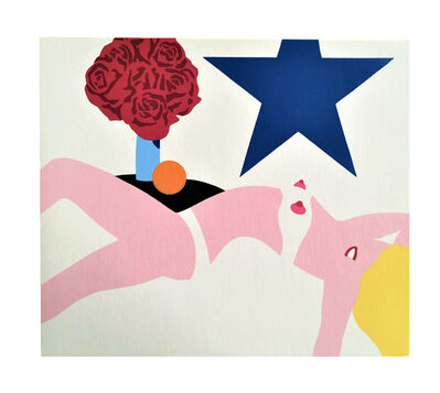 "Tom Wesselmann, '""NUDE BANNER"", 1969, Promotional Card, Multiples Inc. NYC, Edition of 1000 (not signed)', 1969"