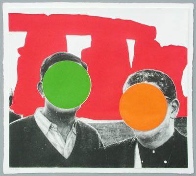 John Baldessari, 'Stonehenge Red', 2005
