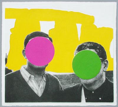 John Baldessari, 'Stonehenge Yellow', 2005