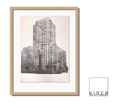 Richard Artswager, ''Untitled' (building), 1964, Exhibition Announcement/Mailer/Poster, Artswager's First Exhibition at Leo Castelli Gallery NYC', 1964