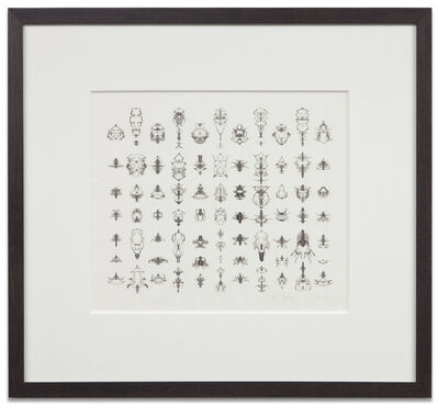 Bruce Conner, 'INKBLOT DRAWING (APRIL 4, 1991)', 1991