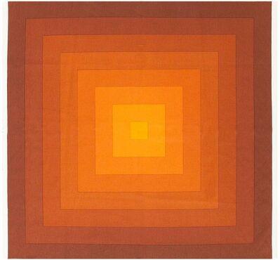 "Verner Panton, 'Vintage Orange ""Quadrat"" Textile '"