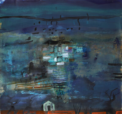 Barbara Rae, 'Night - Lanjaron'