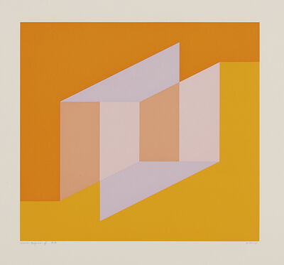 Josef Albers, 'Never Before f; from Never Before portfolio', 1976