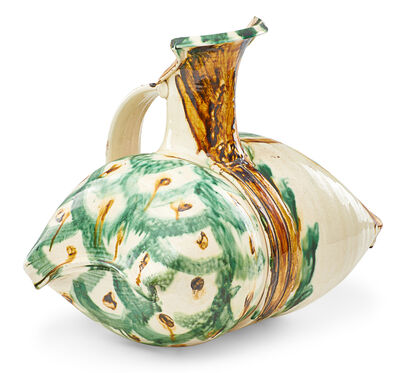Betty Woodman, 'Early pillow pitcher, Tang-style glaze, New York', 1970s
