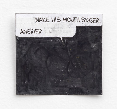 Tony Lewis, 'Make His Mouth Bigger, Angrier', 2015