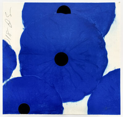 Donald Sultan, 'Blue Poppies, 2018', 2018