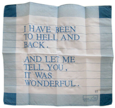 Louise Bourgeois, 'I Have Been to Hell and Back Handkerchief', 1996