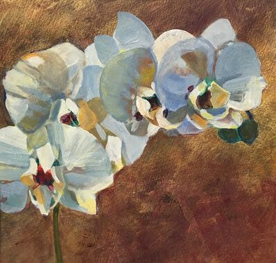 Kathy Dana, 'Orchid on Gold'
