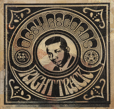 Shepard Fairey, 'Obey Records Right Track', 2006