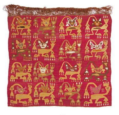 Andean artisan, 'Panel with Crowned Figures Bearing Staffs', 1150-1450