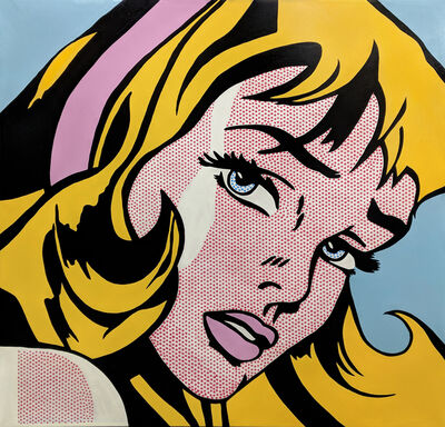 Steve Kaufman, 'LARGE CRYING GIRL HOMAGE TO LICHTENSTEIN', 2001-2007