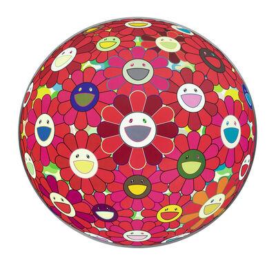Takashi Murakami, 'FLOWERBALL (3D) RED CLIFF', 2010