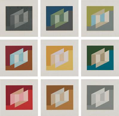 Josef Albers, 'Never Before: nine plates', 1976