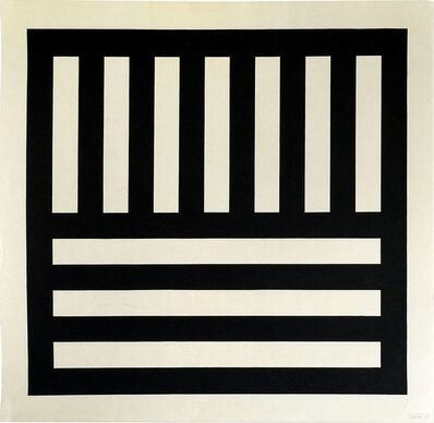 Sol LeWitt, 'Black Bands in Two Directions', 1990