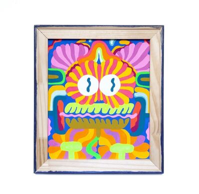 Mike Perry, 'Backwards Painting #2 (Floral face)', 2018