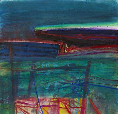 Barbara Rae, 'Red Fence - Ceide'